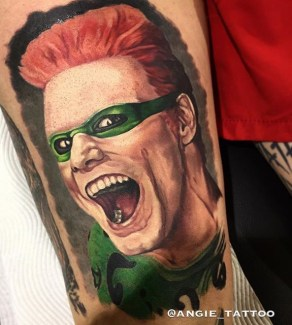 Angie geek peau best tattoo jim carrey tag