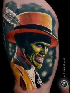 Bartłomiej Kluczu Kluczyk geek peau best tattoo jim carrey tag