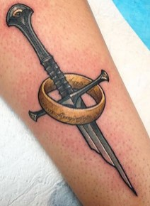 Chase Martines LOTR lord of the ring geek tattoo tag