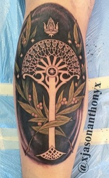Jason Anthony LOTR lord of the ring geek tattoo tag