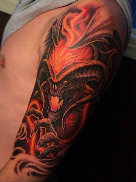 Travis Greenough LOTR lord of the ring geek tattoo tag