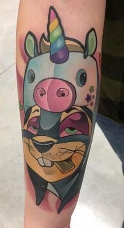 LEHEL Perspektiv tattoo newschool geek tag