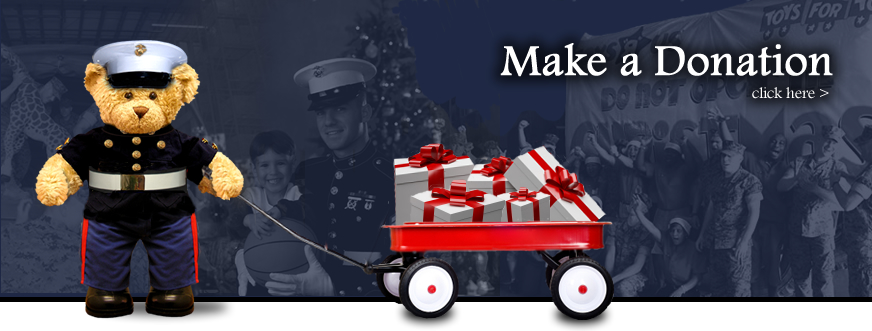Toys For Tots Banner & Donation Site