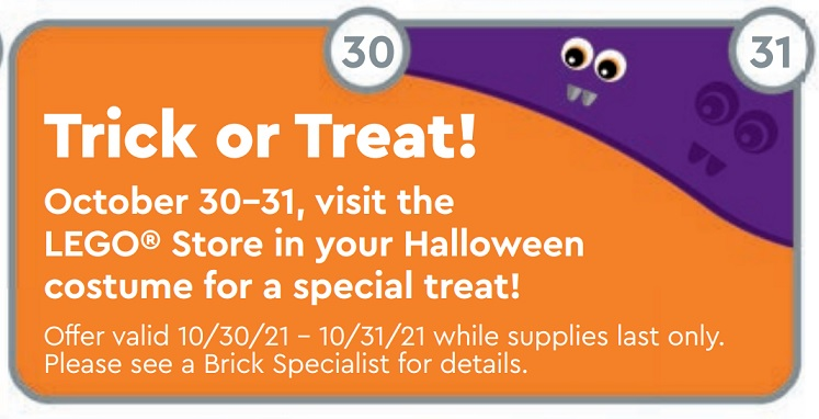 While we receive compensation when you click links to partners, they do not i. LEGO Store Calendar Offers, Promotions & Releases October 2021 - Toys N Bricks