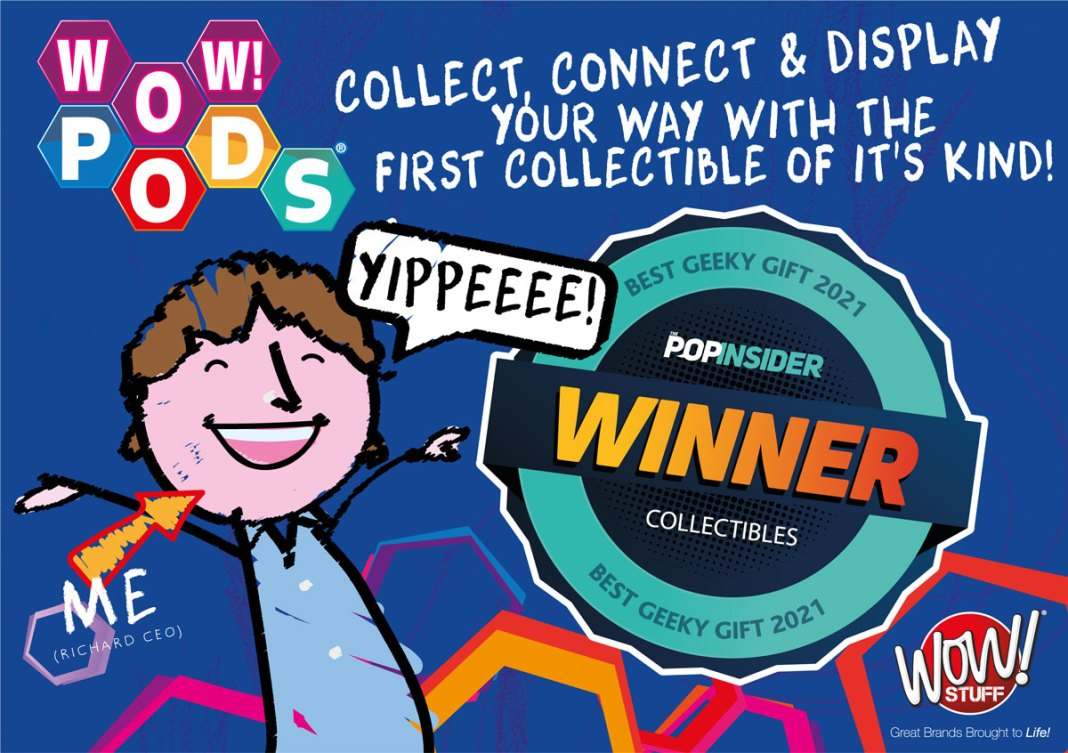WOW! PODS wins best collectibles award in the USA