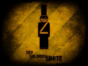 Toy Soldiers Unite wallpaper by Kipling