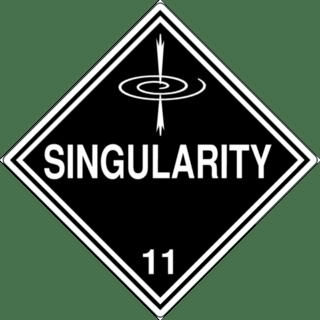 Singularity Warning Sign Graphic