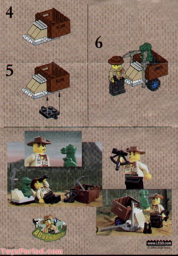 Lego 1278 Johnny Thunder And Baby T Set Parts Inventory