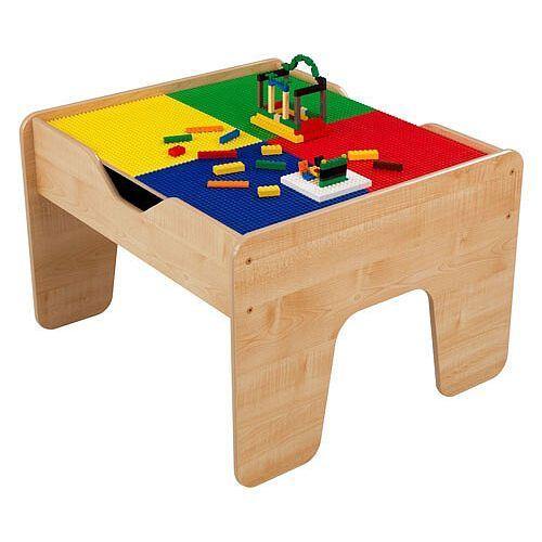 table d activites 2 en 1 avec planchette compatible lego naturelle