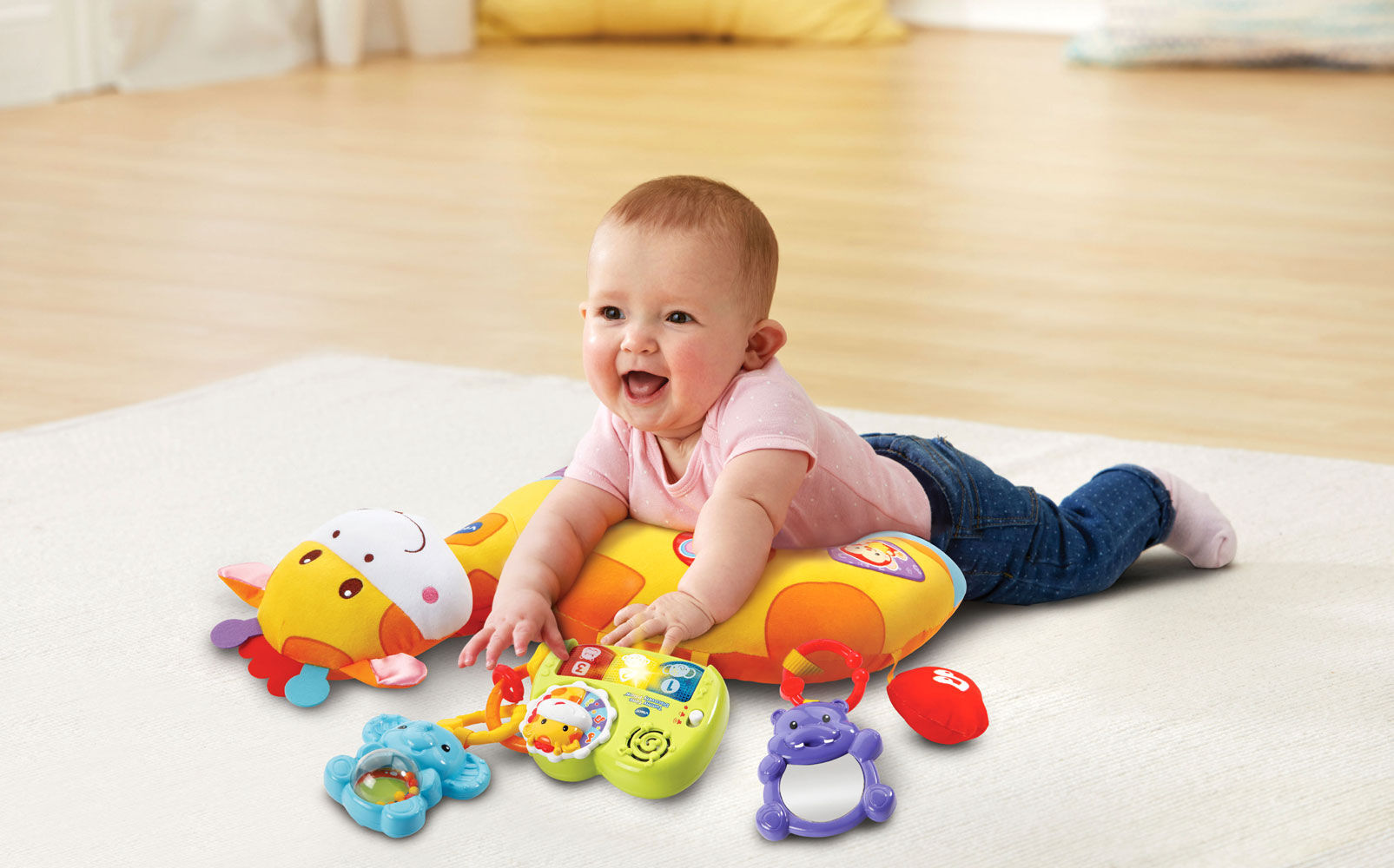 tummy time discovery pillow english edition
