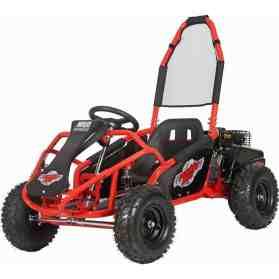 MotoTec Mud Monster Kids Gas Powered 98cc Go Kart Full Suspension Red