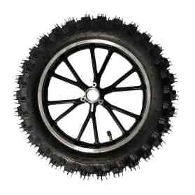 MotoTec 50cc Demon Rear Wheel Complete 2.50-10