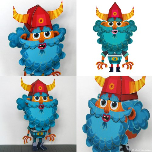 Paper toys : viking