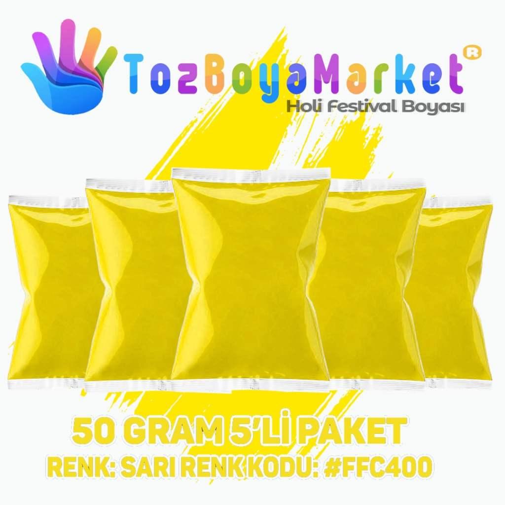 Holi Tozu 5'li Paket: Sarı