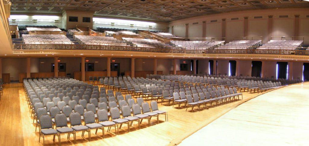 War Memorial Auditorium with seats