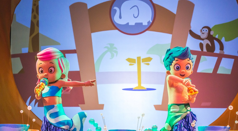 bubble guppies on a beach