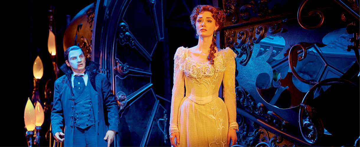the Phantom looks longingly at Christine Daae