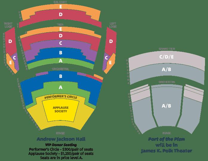 Season Tickets Seat Map