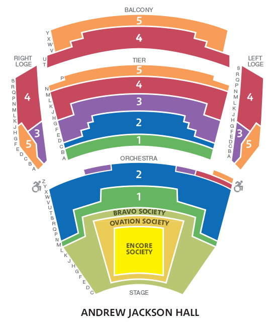 2018-19 Season Seating Chart