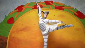 """Aleksandr Schroeder leaps in NCT's """"Dragons Love Tacos."""""""
