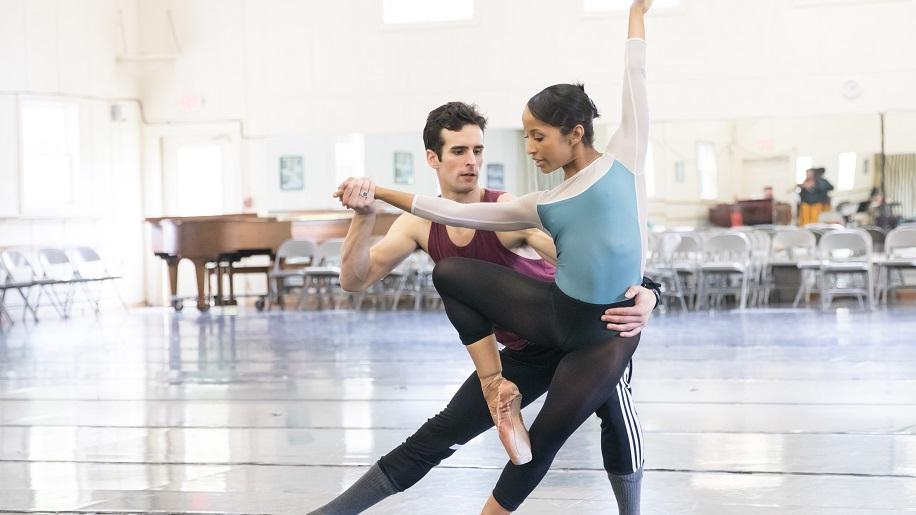 Nashville Ballet's Owen Thorne and Kayla Rowser rehearse 'Lucy Negro Redux.'