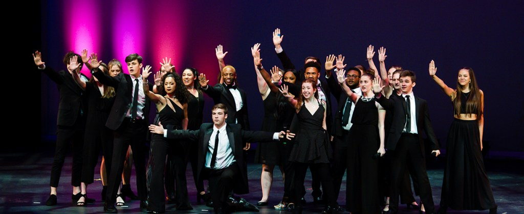 High school performers on stage