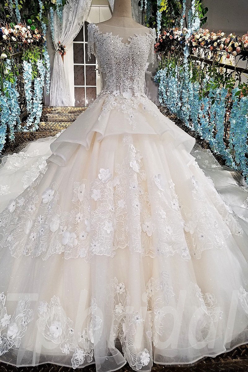 Hand Made Wedding Dress Ball Gown Bridal Gown 2018 • tpbridal
