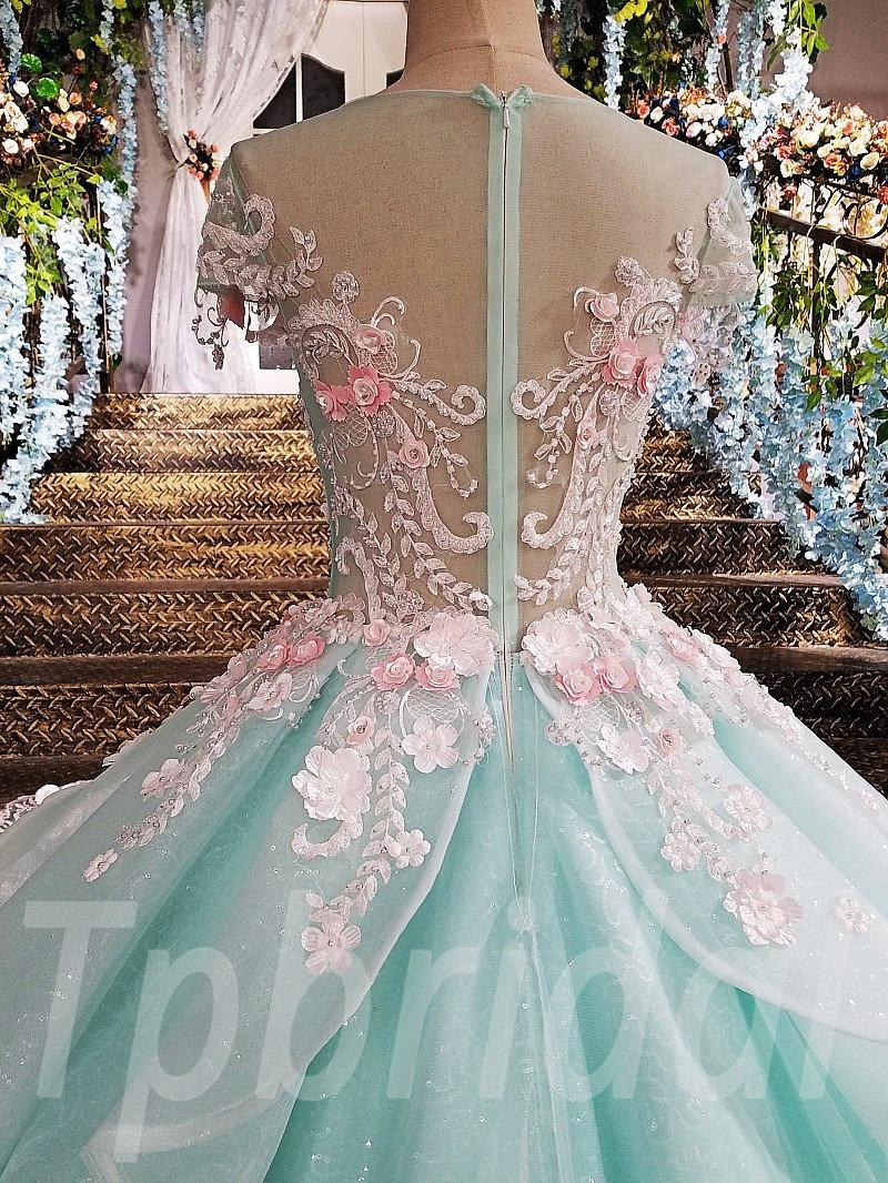 Light Blue Prom Dress A-Line Princess Evening Gown Online