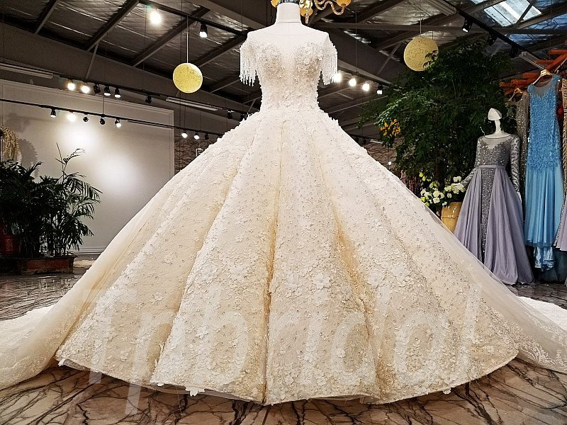 Luxury Wedding Dress Haute Couture Ball Gown Bridal Gown • tpbridal