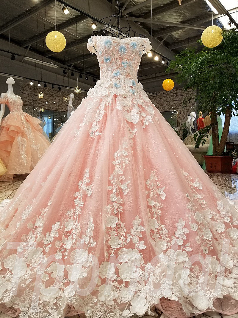 Pink wedding dresses online shopping gorgeous bridal gowns sale