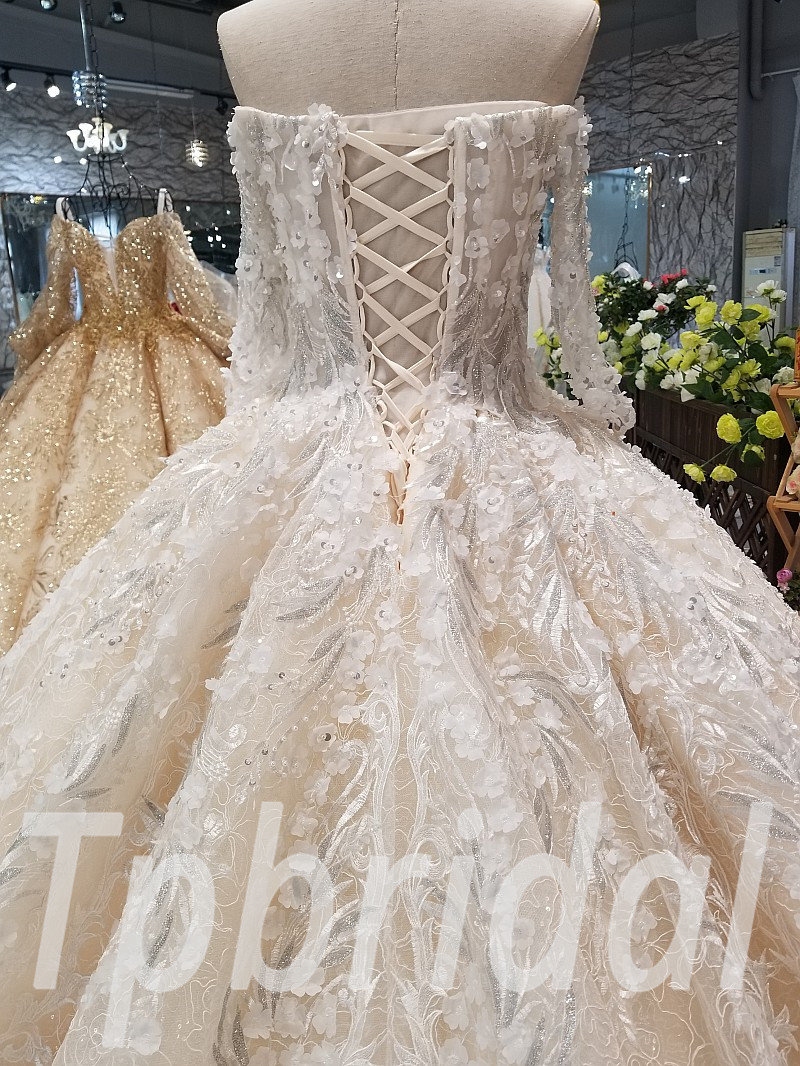 Hand Made Wedding Dress Lace Princess Ball Gown Sale
