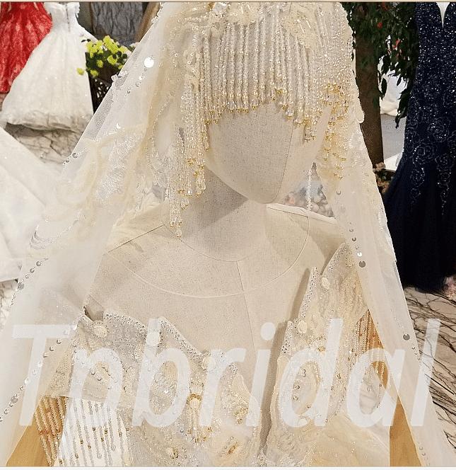 Wedding Dress With Veil Princess Ball Gown Plus Size Bridal
