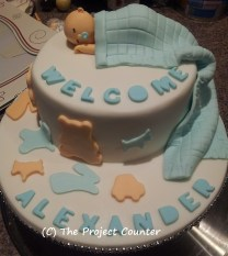 Welcome Baby Cake: Custom Order Ask For a Quote Now
