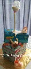 Anti-Gravity Toy Box Cake: Custom Order Ask For a Quote Now