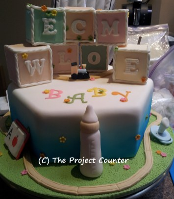 Baby Block Cake: Custom Order Ask For a Quote Now