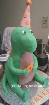 Friendly Dinosaur Cake: Custom Order Ask For a Quote Now