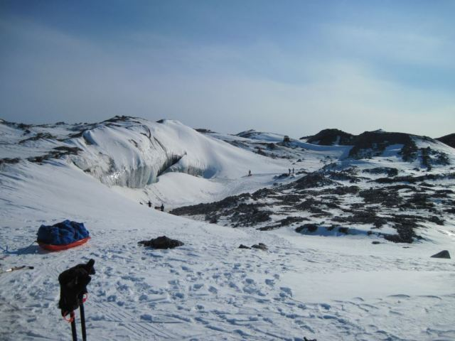 Point 660—Our first view of the icefall