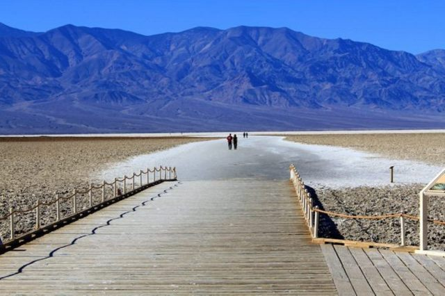 Boardwalk onto Salt Flats