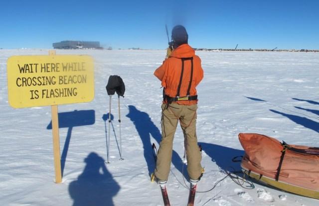 At South Pole runway
