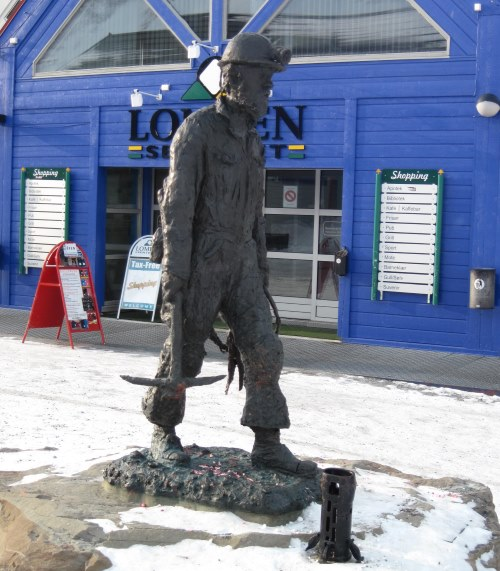 Famous coal miner statue