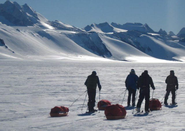 sledging near Patriot Hills