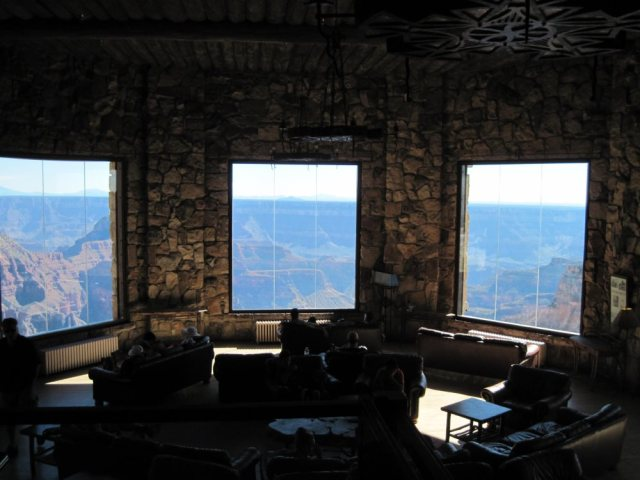 Sun room at Grand Canyon Lodge- North Rim