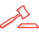 image of a gavel to represent legal temp staffing
