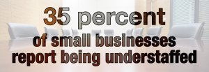 An infographic stating that 35 percent of small businesses are understaffed.