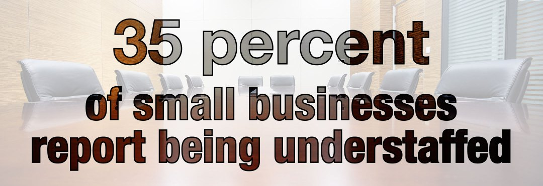 Infographic showing that 35 percent of small businesses report being understaffed.