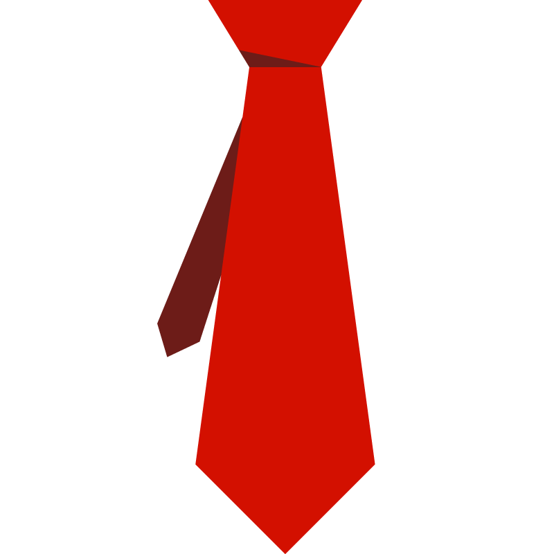 Picture of a red tie.