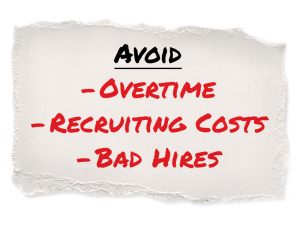An infographic detailing what busineses can avoid by relying on temporary staffing.