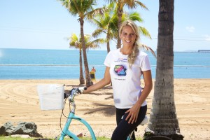 Courtney Hancock in Townsville for #TsvTriFest launch