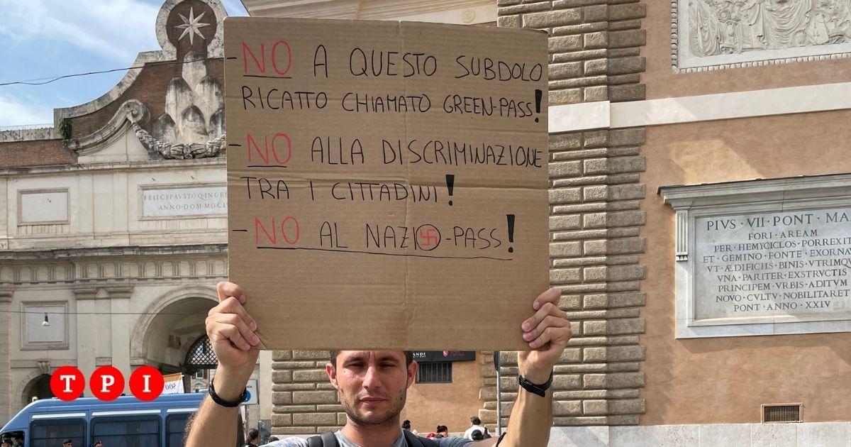 manifestation no vax rome