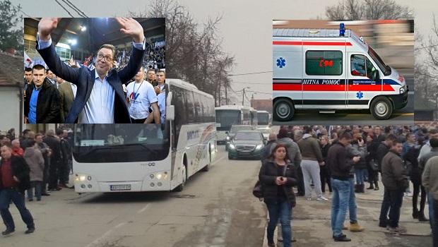 Photo of DRAMA U AUTOBUSU MITINGAŠA: Pošla na Vučićev miting u Požarevcu i doživela infarkt, lekari se bore za njen život!